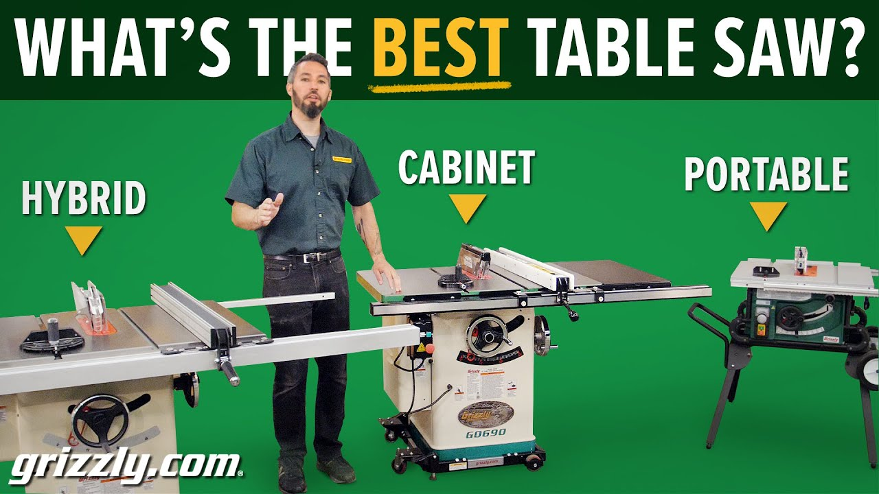 Grizzly Table Saw Overview Youtube