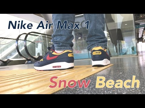 size 40 dddf2 896ce Nike Air Max 1 Snow Beach On Feet NOIRFONCE Sneakers