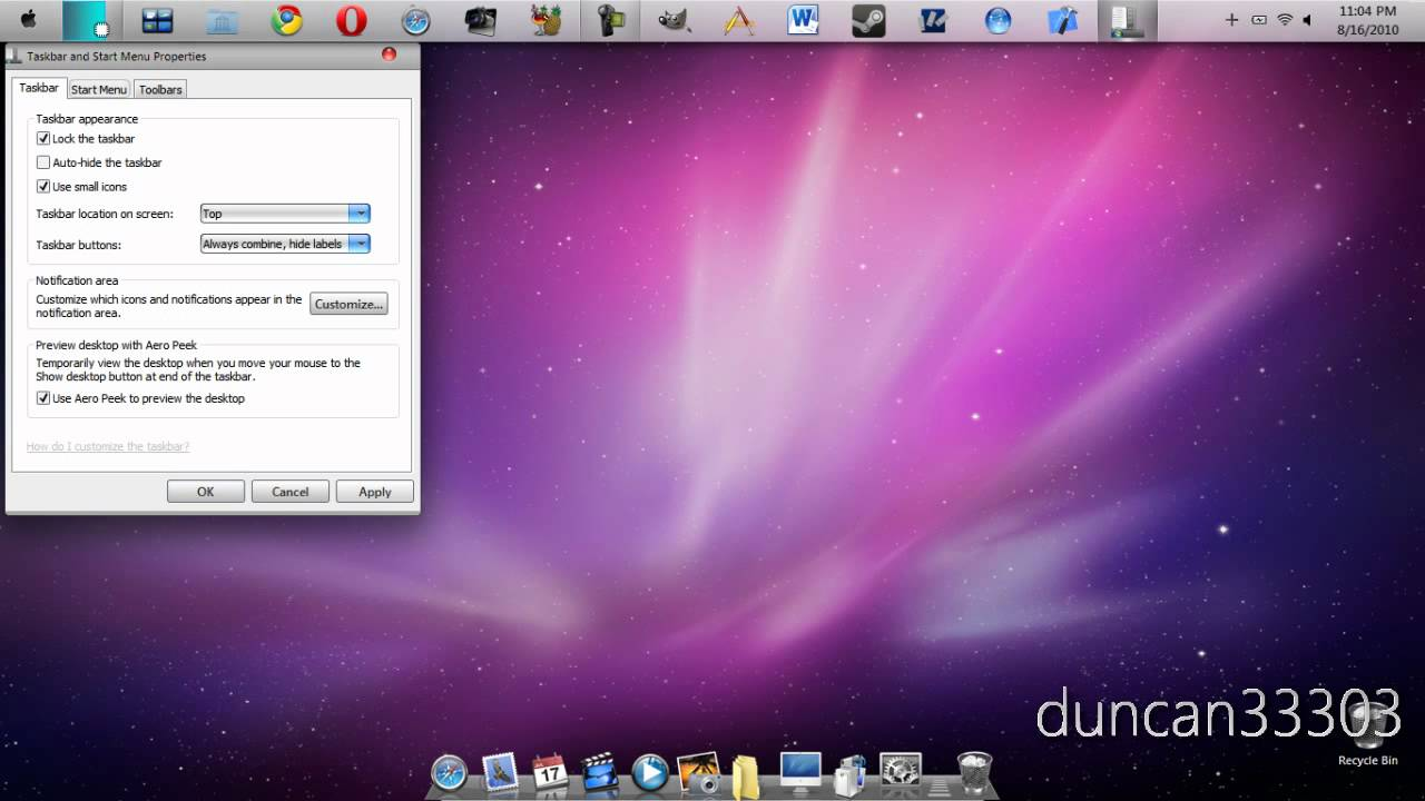 Make Windows Vista and 7 Look Like Mac OS X Snow Leopard