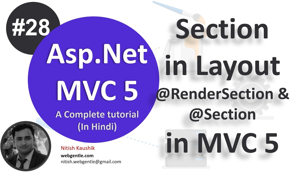 (#28) Section in Layout | mvc tutorial for beginners in  net c#