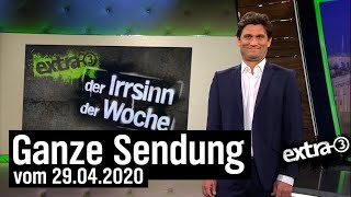 Extra 3 vom 29.04.2020 mit Christian Ehring | extra 3 | NDR