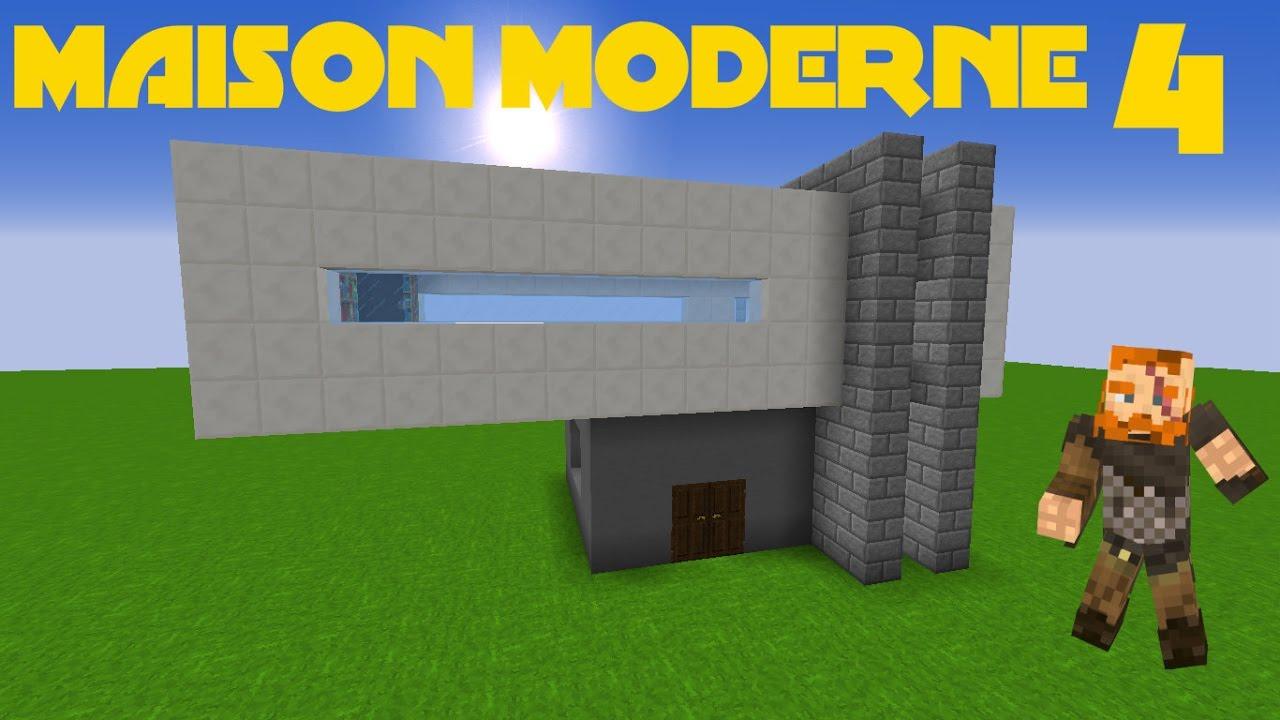 MINECRAFT TUTO - MAISON MODERNE 4 - YouTube