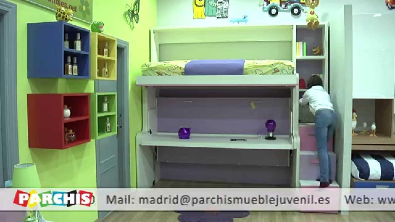 Muebles parchis como funcionan las camas mesa - Muebles literas abatibles ...