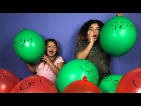 Thumbnail: Making Slime With Giant Balloons! Giant Slime Balloon Tutorial - Christmas Edition