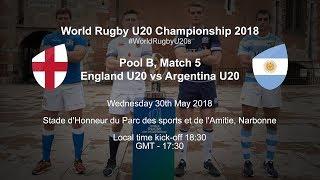 Live: World Rugby U20 Championship - England U20 v Argentina U20