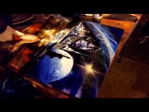 nyc spray paint art doovi. Black Bedroom Furniture Sets. Home Design Ideas