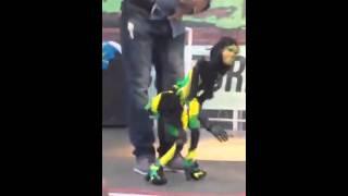 Jamaican puppet dancing one drop