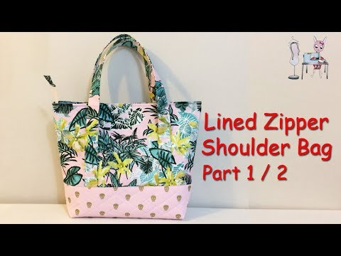 DIY TOTE BAG   Shoulder Bag PART 1/2   BAG SEWING TUTORIAL   HANDBAG   Coudre un sac