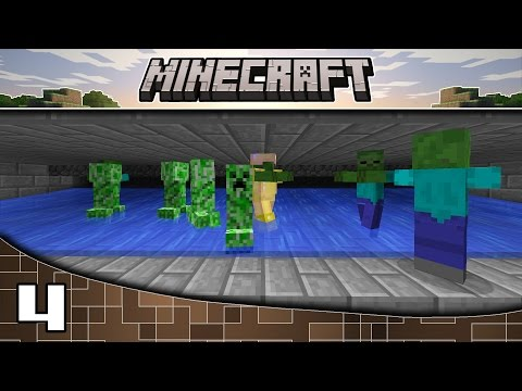 Minecraft: PC | Let's Play | Episode: 4 Flushing Mob Trap!