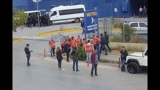 Real işçileri hak arama mücadelesine devam ediyor