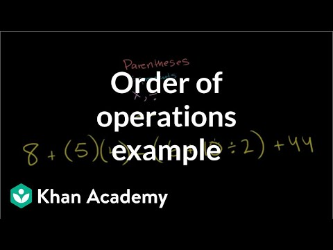 Order of operations example | Arithmetic properties | Pre-Algebra | Khan Academy
