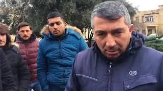 Təkər alverçiləri Prezident aparatının qarşısında etiraz aksiyası keçirib