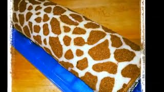 Sallys Banana-Split-Rolle in Giraffen-Optik