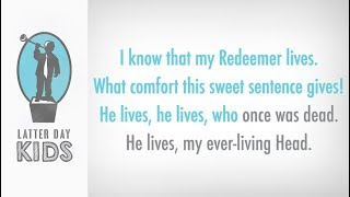I Know That My Redeemer Lives | Karaoke (2019 Primary Program)