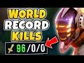 WORLD RECORD CHALLENGE: MOST KILLS IN 1 GAME (5+ PENTA, 800+ DH STACKS) - League of Legends