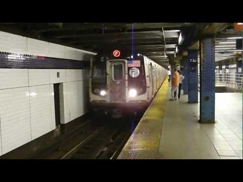 FASTRACK IND 53rd St Line: R160A-2 F Train at 7th Ave-53rd St (Brooklyn Bound)