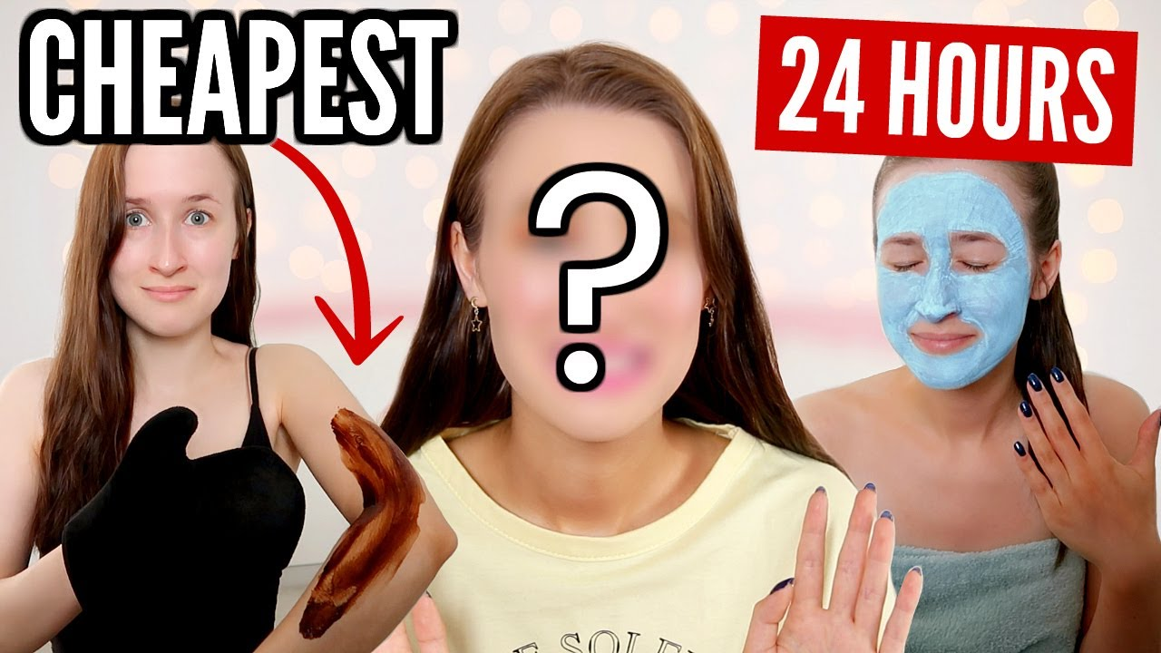 I Only Used The CHEAPEST Beauty Products For 24 HOURS...