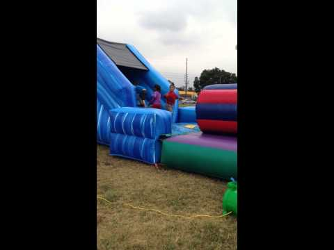 Lake Marie Elementary School Mud Run Obstacle course 2014