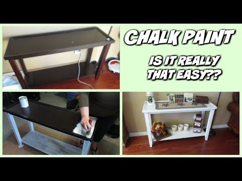 CHALK PAINT -- IS IT REALLY THAT EASY??