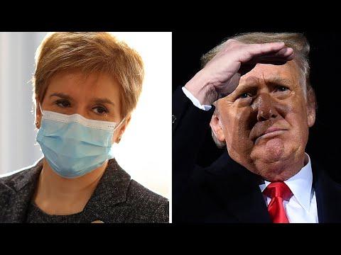 Nicola Sturgeon warns that Donald Trump is not allowed Scottish golf trip to avoid inauguration