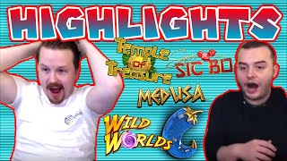 Slot Session Highlights - Extra Chilli, Medusa MEGAWAYS, Wild Worlds, Super Sic Bo and more!
