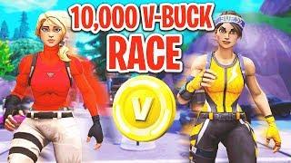 10,000 V-Buck Parkour Race In Fortnite!