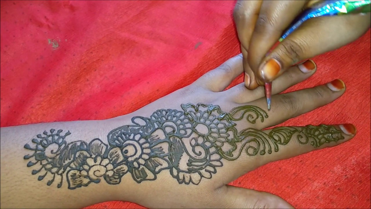 easy mehndi designs for back hands | simple mehndi design ...
