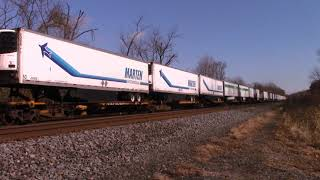 8 Eng. Lead 21J Trailer Train from Rutherford PA to 47th ST Yard Chicago IL at ThompsontownPA