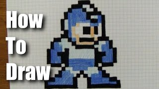 How To Draw 8-Bit Mega Man