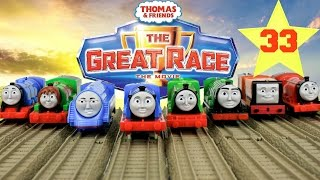 THOMAS AND FRIENDS THE GREAT RACE #33 | TRACKMASTER GLOW IN THE DARK EDWARD Kids Playing Toy Trains