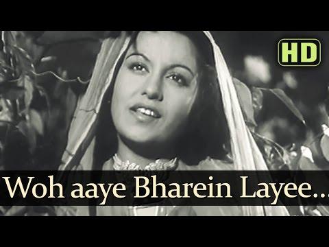 Woh Aaye Baharein - Afsana Songs - Ashok Kumar - Veena - Lata Mangeshkar
