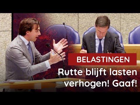 Baudet pakt Rutte aan: goede of slechte economie, belastingen altijd omhoog!