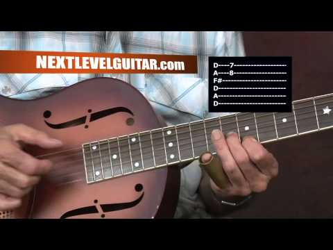 Son House inspired Mississippi Delta Acoustic BLUES Slide guitar lesson Pearline song style