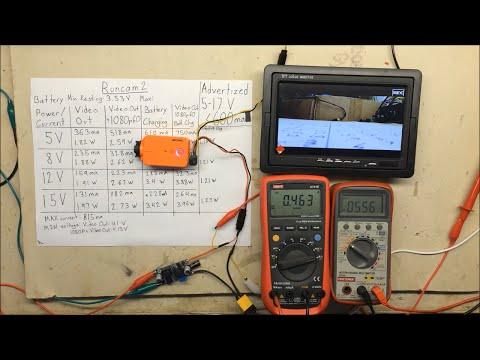 Runcam 2 Power, Current, Voltage Usage Tests