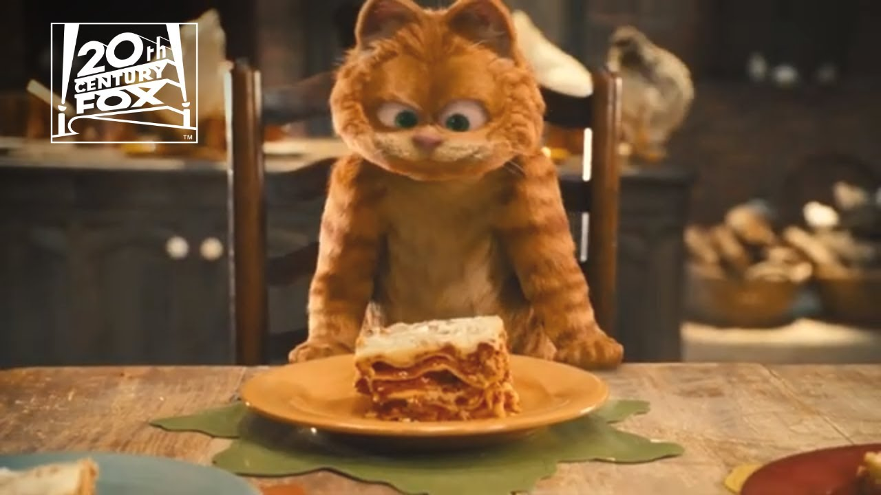 Garfield A Tail Of Two Kitties The Lasagna Dance Clip Fox Family Entertainment Youtube