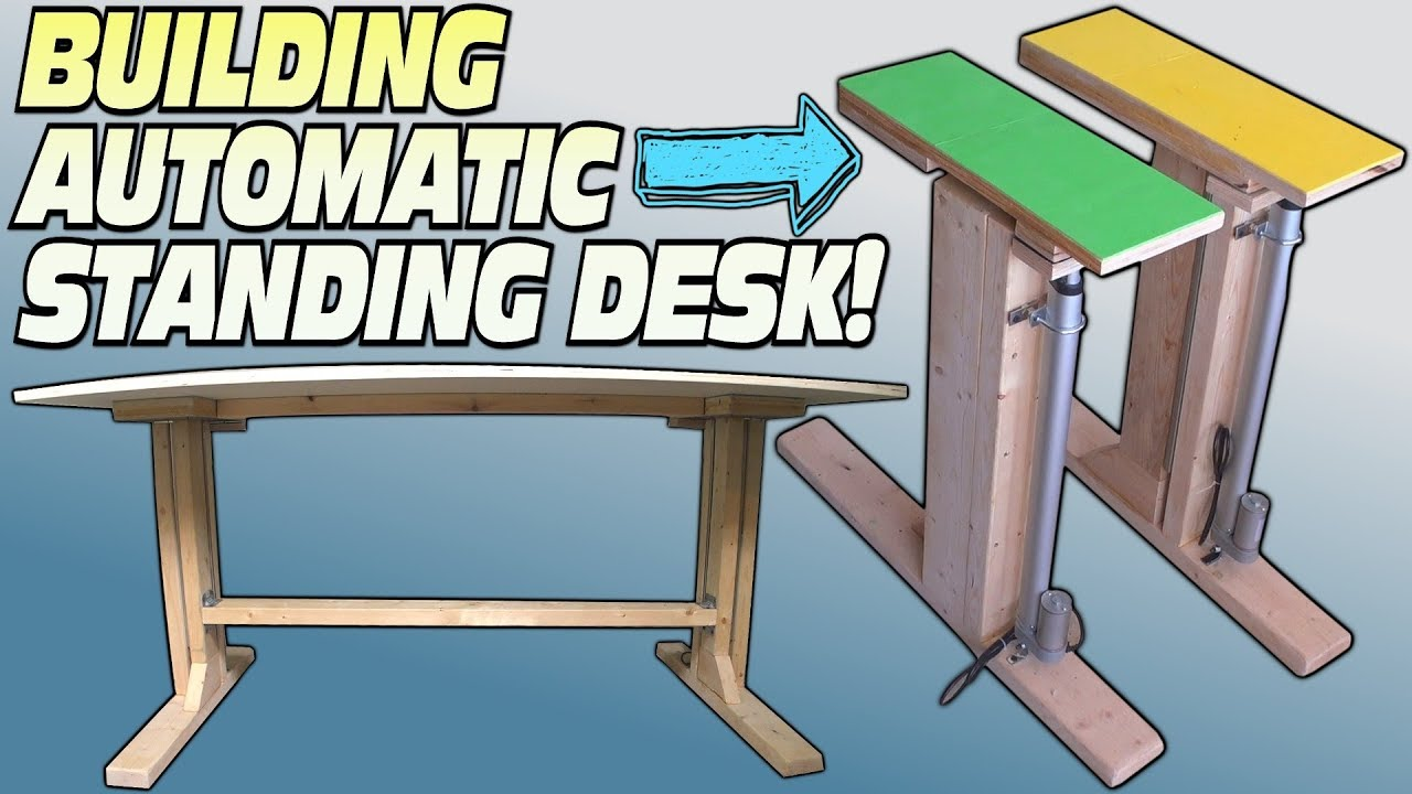 How To Build A Standing Desk Building Convertible Electric