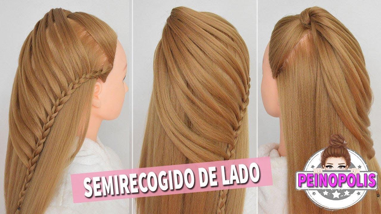 Peinados Semirecogidos con Trenzas de Lado para Principiantes con