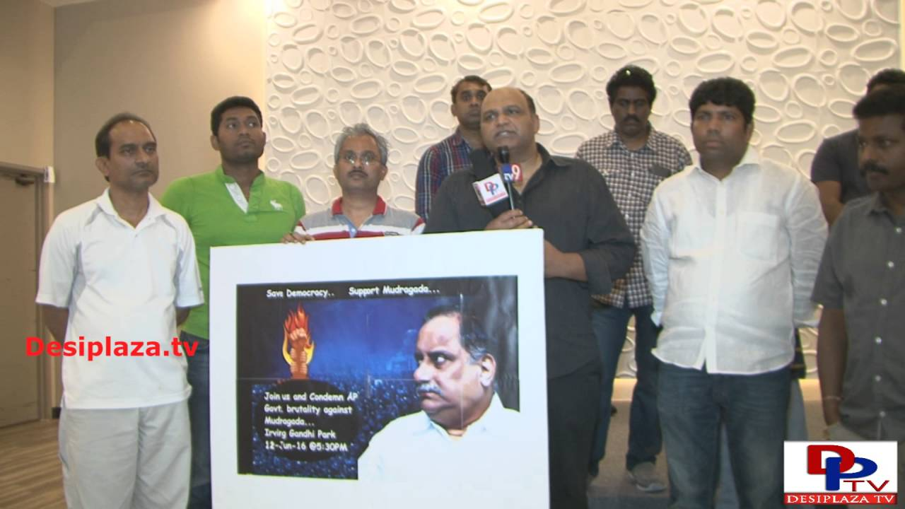 Telugu Community member from Dallas speaking to the media against CM  Chandra Babu Naidu