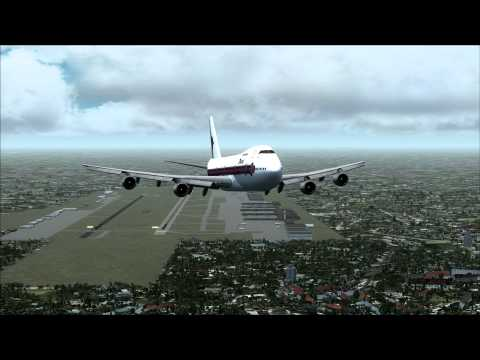 Thai Airways Boeing 747-200 Take Off Bangkok