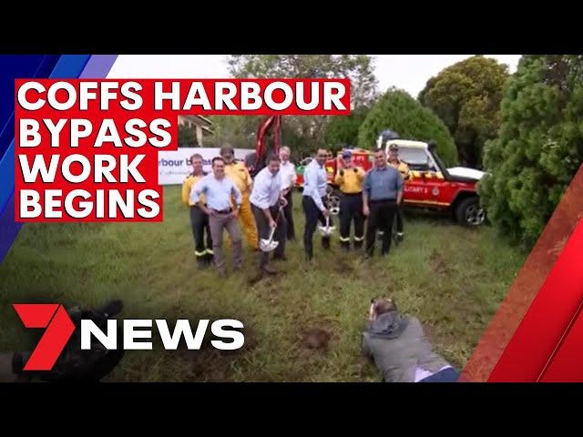 Construction of $1.8 billion Coffs Harbour bypass gets underway   7NEWS