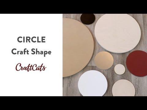 CIRCLE CRAFT SHAPE - Product Video | Craftcuts.com