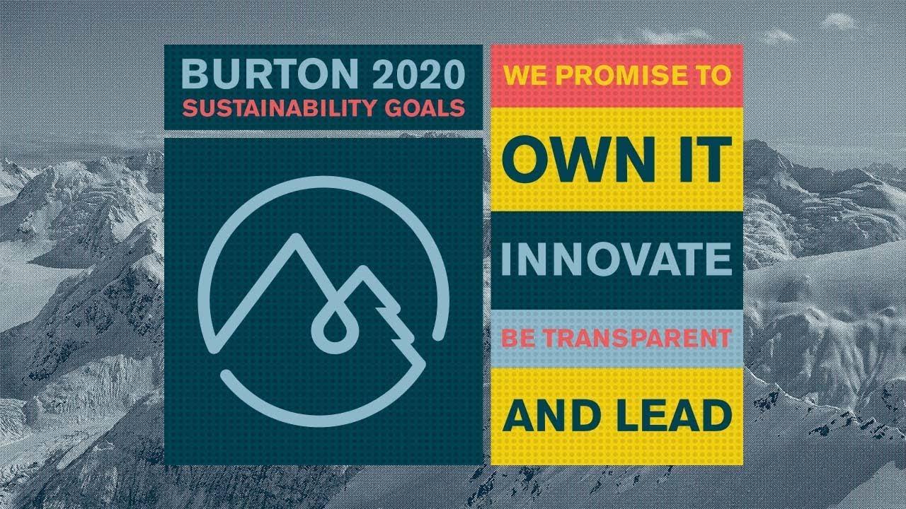 9cb419b09a4 Burton 2020  Sustainability Goals - YouTube