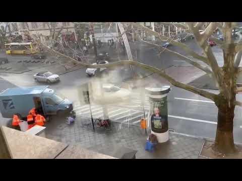 Money transporter robbery in Berlin dressed as garbage collector | Cash heist city center Berlin #1