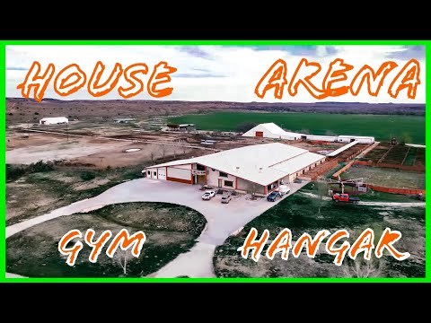Bomb Proof #Barndominium #texasranchhouse tour my house/indoor arena/helicopter hanger