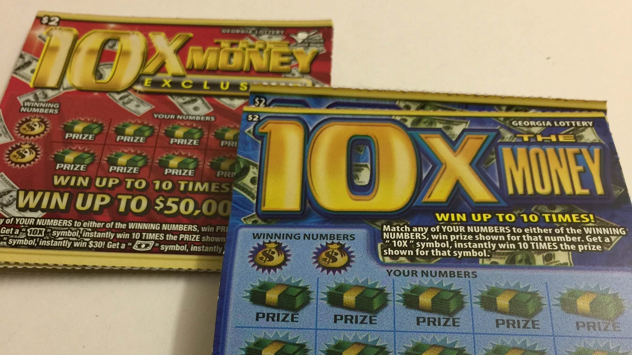 Georgia Lottery: 10 $2 10X The Money Scratch Off Tickets