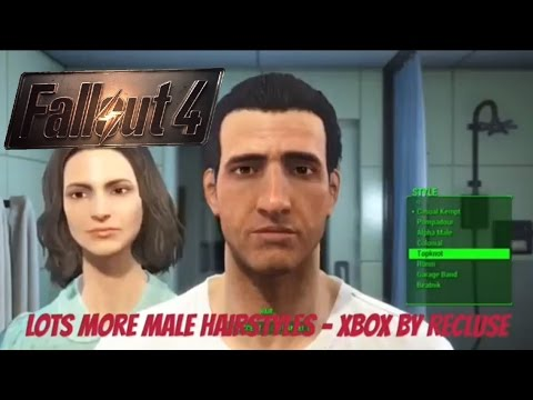 Fallout 4 Xbox One Mods|Lots More Male Hairstyles - Xbox