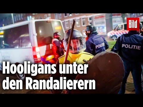 Corona-Randale in Holland: Hooligans sind organisiert und gewaltbereit