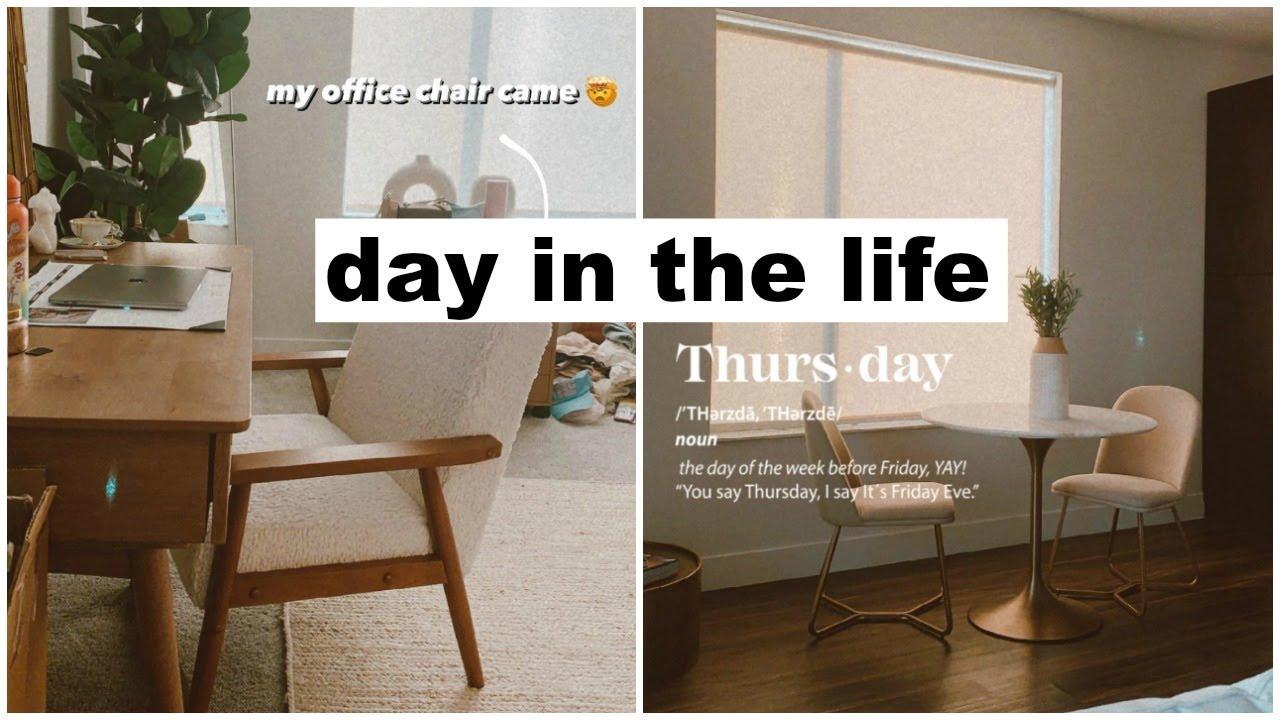 day in the life: organizing, new home decor & meetings! | Keaton Milburn
