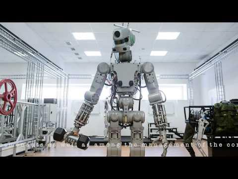 Russian robot F.E.D.O.R  Skybot F-850 & The Rockets