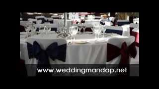 Wedding decoration backdrops - mandap clothes for wedding in india